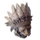 El metal de los jefes indios de la escultura de bronce del busto hace la estatua a mano de cobre amarillo Tpy-922
