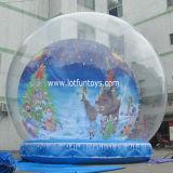 Украшение рождества: Гигантский раздувной людской рекламировать глобуса снежка