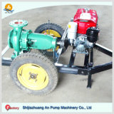 Pompe à eau centrifuge mue par courroie entraînée par moteur diesel de remorque mobile