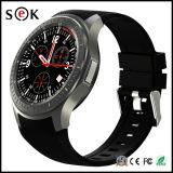 Montre intelligente de smartphone d'OEM de la montre Dm368 du faisceau 1.3GHz de quarte de Mtk 6580 avec le WiFi de GPS