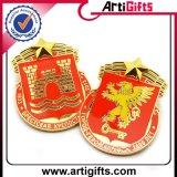 Pin di metallo elegante placcato oro personalizzato
