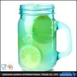 Buntes Glasware-Maurer-Glas mit Griff