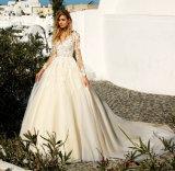 Hochzeits-Kleid 2017 mit langen Hülsen