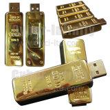 De gouden Aandrijving van de Flits van de Bar USB/Schijf USB (ci-UM 606)