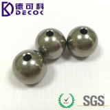 Bille 304 en acier avec la sphère en métal de trou avec l'amorçage