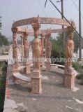 Gazebo de marbre, Gazebo en pierre, Gazebo en pierre de jardin (SK-2200)