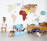 Murali smontabili della carta da parati del programma di mondo della camera da letto del ragazzo di alta qualità calda di vendita
