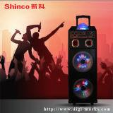 Altavoz sin hilos teledirigido recargable del micrófono de Powerd Bluetooth de la batería de la puerta posterior