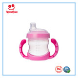 La taza plástica durable del cuello ancho con la maneta BPA libera