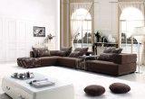 Spugna ad alta densità L sofà del tessuto dell'angolo di figura per la mobilia dell'hotel (F813)