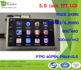 "5.0 ""800X480 Touch Screen 40pin opzione RGB, pannello TFT LCD"