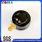 Luft-Anzeigeinstrument-pneumatisches Anzeigeinstrument mit schwarzer Stahlkasten-doppelter Schuppe wählen Farbe drei für WARNING