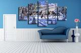 HDは雪の絵画キャンバスの版画室の装飾プリントポスター映像のキャンバスMc076でオオカミを印刷した