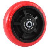 Örtlich festgelegte PU-Hochleistungsfußrolle (helles Rot)