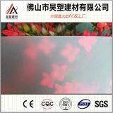 Feuille givrée de PC colorée par feuille solide de polycarbonate avec la protection UV pour les portes intérieures