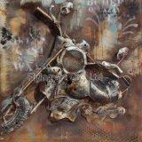 Caída de la pared del metal del arte de la pintura al óleo para la corrida