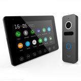 7 pulgadas del Interphone de la seguridad casera del intercomunicador de teléfono video de la puerta con memoria