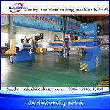 Máquina de estaca Kr-Pl do plasma do CNC do pórtico do feixe da placa da carcaça