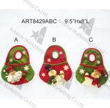 クリスマスの装飾のサンタのスノーマンのミトン、3asst
