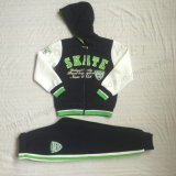 スクエア6713子供の衣服のスポーツの衣服様式の羊毛の男の子のトラックスーツ
