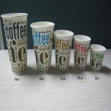 Tazza di carta stampata abitudine a perdere del caffè