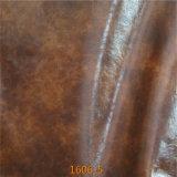 Matérias- primas de imitação de couro genuíno para o Upholstery do sofá (1606#)