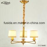 Luzes de bronze árabes do candelabro com branco e máscara D-6017/3 da tela do ouro