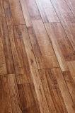 plancher en bois stratifié par noix de parquet d'hickory éraflé par main de planche de vinyle de 8.3mm
