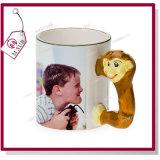 El mono lindo diseña la taza de cerámica 3D para la sublimación de Mejorsub