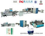 Cadena de producción automática completa de máquina de Rolls de la toalla del papel higiénico que raja