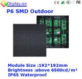 Pantalla de visualización al aire libre ligera de LED del alquiler del alto contraste P6
