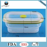 600ml Contenedor plegable de comida de silicona Tiffin Lunch Box Sfb05