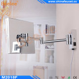Quadratisches Folding Ajustable Wall Bathroom Cosmetic Mirror mit LED Light