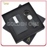 Комплект подарка ключевой цепи выдвиженческого металла и владельца карточки