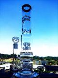 Spirale-Ring-Glaswasser-Pfeife-Farben-Regenschirm Percolatar der China-Fabrik-18inch 55 des Durchmesser-5thickness Hand durchgebrannte Glasrohre mit Abdeckung
