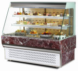 Heiße Verkaufs-Vorderseite-geöffneter Kuchen-Schaukasten mit CER