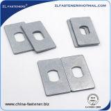 Rondelle rectangulaire de haute résistance d'acier inoxydable