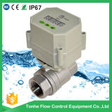 Valve de l'eau de commande d'acier inoxydable avec le robinet à tournant sphérique de drain de temporisateur