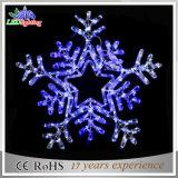 Luz blanca del día de fiesta LED del copo de nieve de la decoración al aire libre de la Navidad