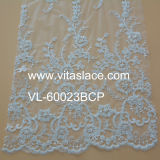 Table Cloth Vl-60023c를 위한 아이보리 1.4m Corded Lace Fabric