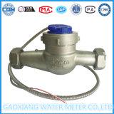 Contador del agua seco multi de la dial de jet del acero inoxidable 304 de Dn32mm