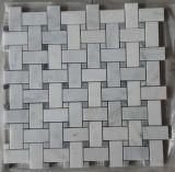 Telhas de mármore brancas do mosaico do projeto do competidor do tijolo na venda