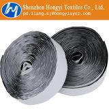 Velcro autoadesivo de nylon preto