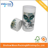 Изготовленный на заказ коробка цилиндра картона с крышками (QYZ370)