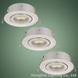 IP20 halógeno ajustable o techo ahuecado LED Downlight del aluminio GU10 MR16