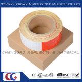Bande r3fléchissante rouge et blanche d'attention estampée par coutume (C3500-B (D))