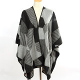 Gestrickter Winter-langer Schal der Dame-Fashion Geometry Pattern Acrylic (YKY4507)