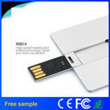 USB de la tarjeta de crédito Pendrive 32GB del asunto de aluminio
