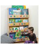 Soportes de visualización de madera del estallido, estantes de visualización de libro
