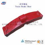Le train partie les blocs de frein composés